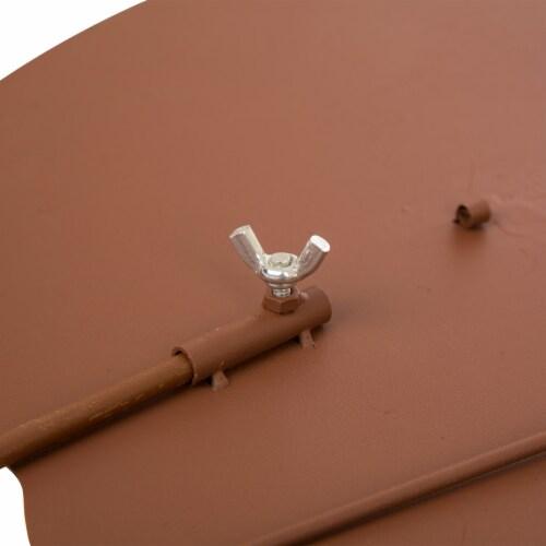 Glitzhome Metal Rusty Pumpkin Decor Perspective: back