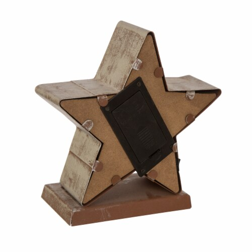 Glitzhome Marquee LED Star Christmas Stocking Holder Perspective: back