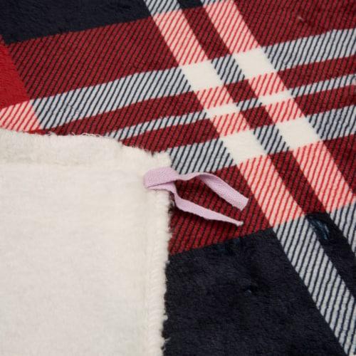 Glitzhome Flanel Plaid Reversible Duvet Cover Perspective: back