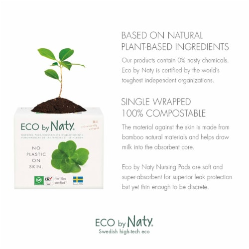 Eco by Naty Compostable Nursing Pads 360 Count Perspective: back