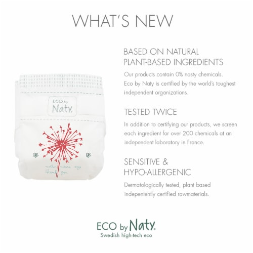 Eco by Naty Size 3 Disposable Diapers 180 Count Perspective: back