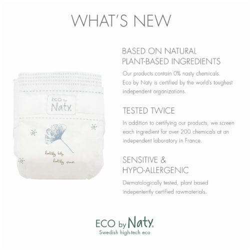 Eco by Naty Size 2 Disposable Diapers 132 Count Perspective: back