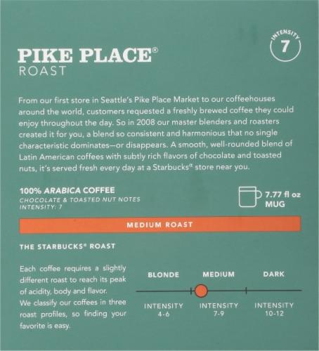 Starbucks Nespresso Pike Place Roast Single Serve Coffee Capsules Perspective: back