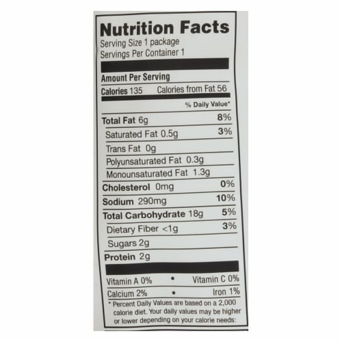 Simply7 Quinoa Chips - Cheddar - Case of 24 - 0.8 oz. Perspective: back