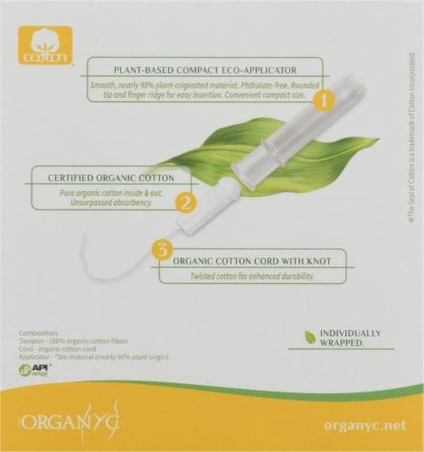 Organyc Regular Bio Based Compact Tampons Perspective: back