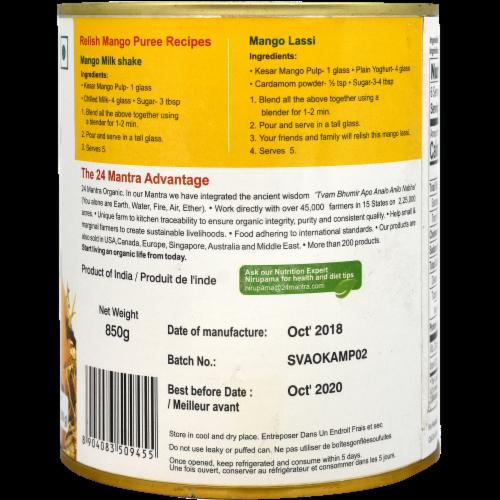 24 Mantra Organic Kesar Mango Pulp Perspective: back