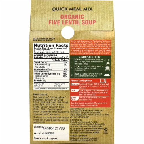 24 Organic Mantra Five Lentil Soup Panchmel Dal Perspective: back