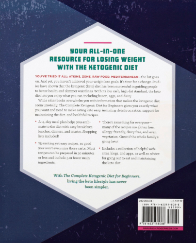 The Complete Ketogenic Diet for Beginners By Amy Ramos Perspective: back