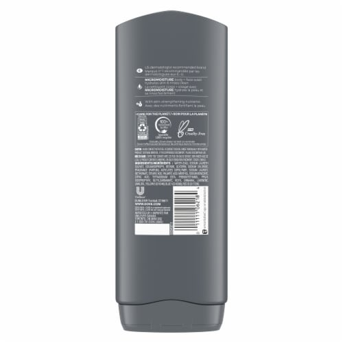 Dove Men + Care Extra Fresh Body Wash 4 Count Perspective: back