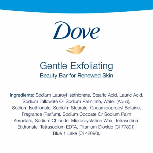 Dove Soap Bar Exfoliate Perspective: back