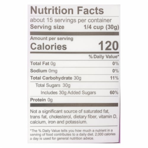 Wholesome Sweeteners Powdered Sugar - Organic and Natural - Case of 6 lbs Perspective: back