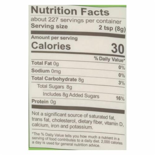 Wholesome Sweeteners Sugar - Organic - Turbinado - Raw Cane - 64 oz - case of 6 Perspective: back