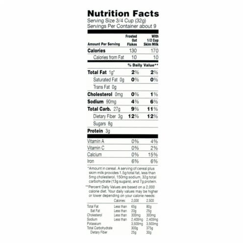 Annie's Homegrown Organic Frosted Oat Flakes Cereal - Case of 10 - 10.8 oz. Perspective: back