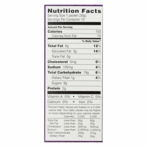 Annie'S Homegrown Cookie Bites Chocolate Chip 10- 1.05 - Case Of 6 - 10 Ct Perspective: back