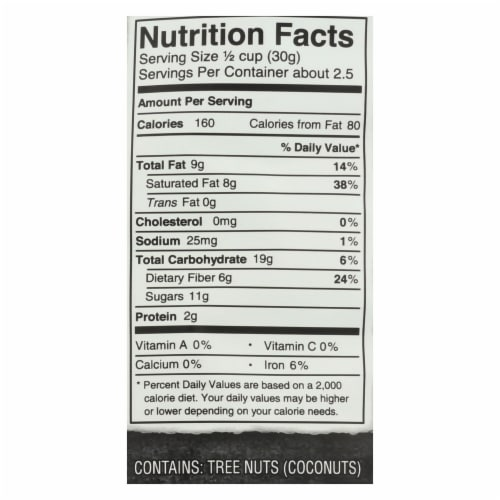 Bare Fruit Bare Fruit Coconut Chips - Choco Bliss - Case of 12 - 2.8 oz. Perspective: back