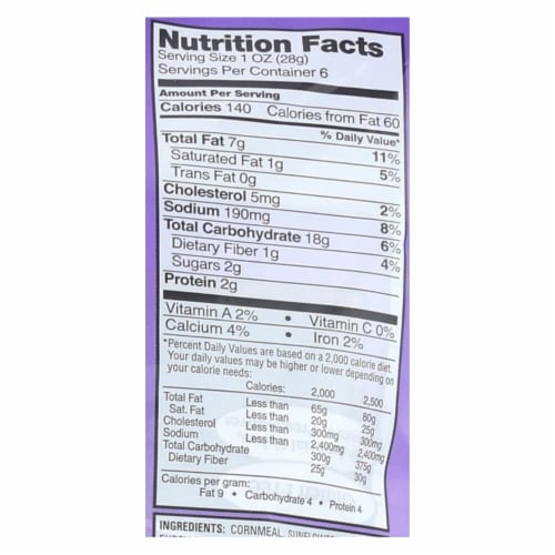 Smart Puffs Real Cheddar Baked Cheese Puffs  - Case of 12 - 6/1 OZ Perspective: back