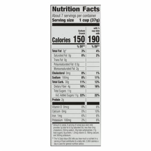 Cascadian Farm Organic Cereal - Graham Crunch - Case of 10 - 9.6 oz Perspective: back