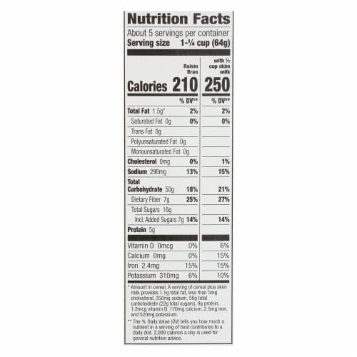 Cascadian Farm Organic Cereal - Raisin Bran - Case of 10 - 12 oz Perspective: back