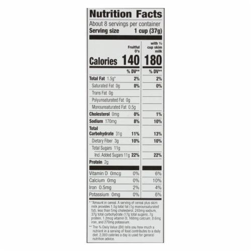 Cascadian Farm Organic Cereal - Fruitful Os - Case of 10 - 10.2 oz Perspective: back
