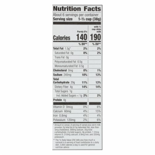 Cascadian Farm Cereal - Organic - Purely Os - 8.6 oz - case of 12 Perspective: back