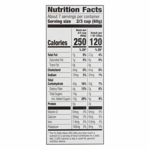 Cascadian Farm Organic Granola Cereal - Cinnamon Raisin - Case of 6 - 15.6 oz Perspective: back