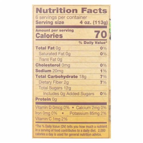 North Coast Organic Honeycrisp Apple Sauce  - Case of 6 - 24 OZ Perspective: back