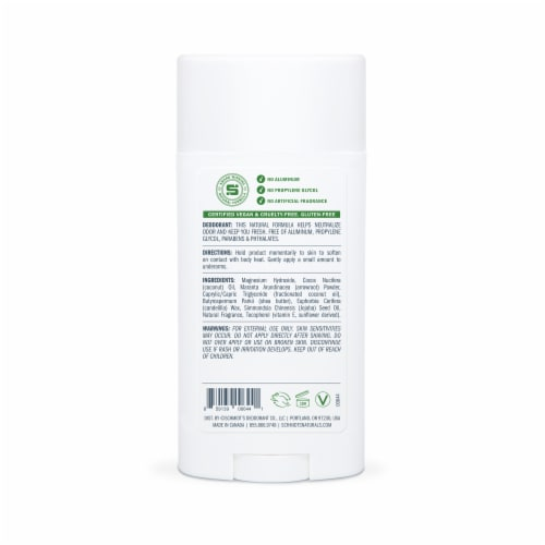 Schmidt's Jasmine Tea Sensitive Skin Formula Aluminum Free Natural Deodorant Perspective: back
