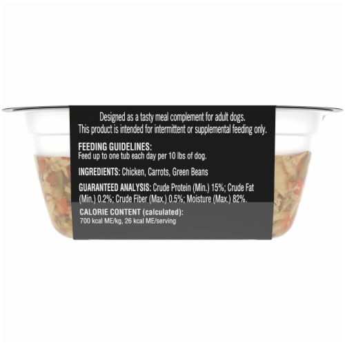 Cesar Simply Crafted Chicken Carrots & Green Beans Wet Dog Food Perspective: back