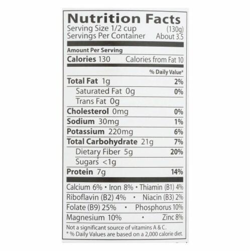 Eden Organic Garbanzo Beans  - Case of 6 - 15 OZ Perspective: back