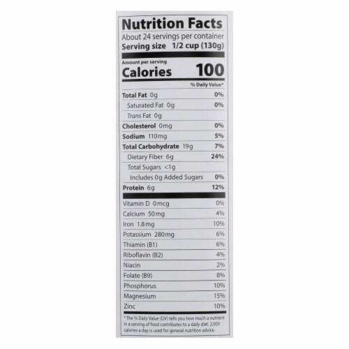 Eden Foods Black Beans Canned - Case of 6 - 108 oz. Perspective: back