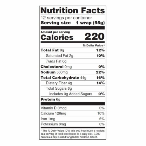 Tumaros - Tort Whole Wheat 12 Inch - Case of 6 - 12 CT Perspective: back