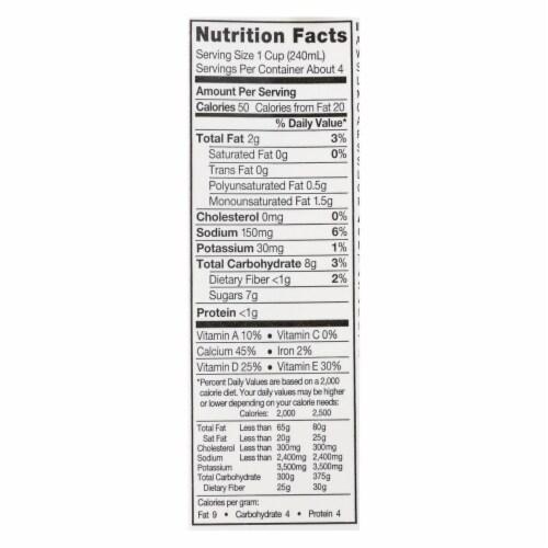 Silk Pure Almond Milk - Original - Case of 6 - 32 Fl oz. Perspective: back