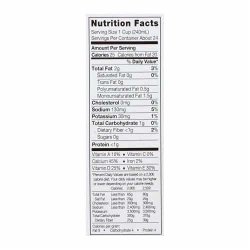Silk Pure Almond Milk - Unsweetened Vanilla - Case of 6 - 32 Fl oz. Perspective: back