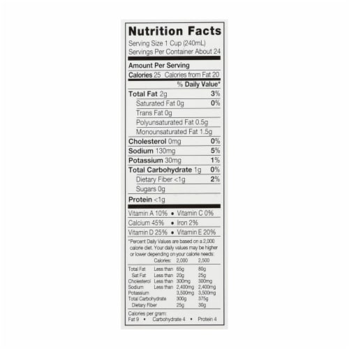 Silk Pure Almond Milk - Unsweetened - Case of 6 - 32 Fl oz. Perspective: back