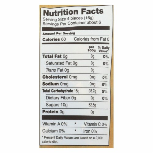 Go Organic Hard Candy - Ginger - 3.5 oz - Case of 6 Perspective: back
