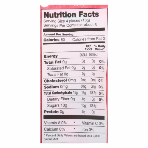 Go Organic Hard Candy - Cherry - 3.5 oz - Case of 6 Perspective: back