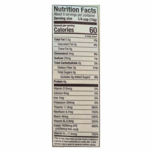 Bob's Red Mill - Yeast Nutritional L Flake - Case of 6-5 oz Perspective: back