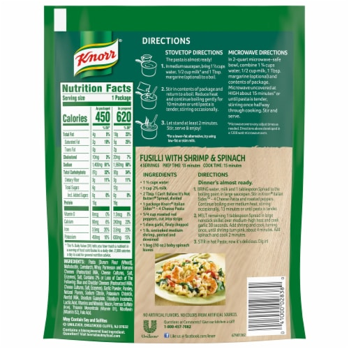 Knorr Pasta Sides Four Cheese Pasta Perspective: back