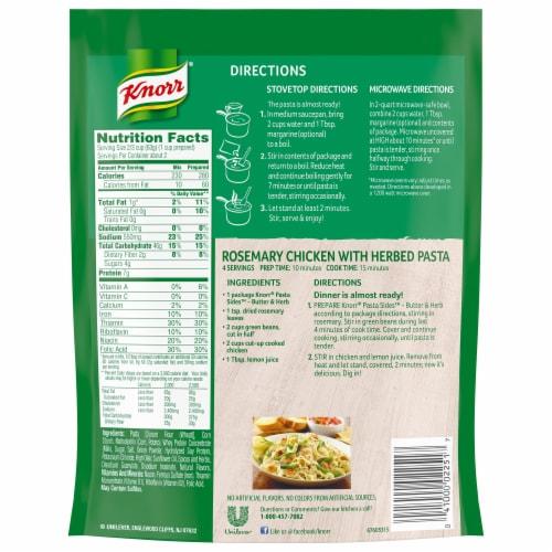 Knorr Pasta Sides Butter & Herb Fettucine Perspective: back
