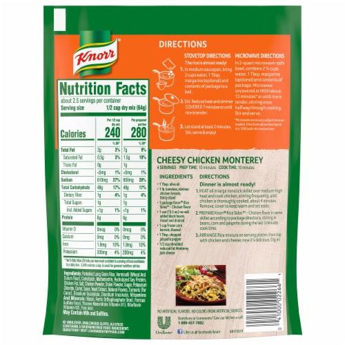 Knorr Rice Sides Chicken Flavor Rice & Pasta Blend Perspective: back