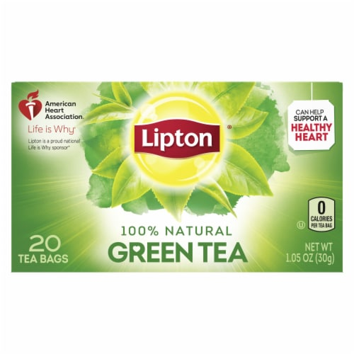Lipton 100 Percent Green Tea, 1.2 Ounce -- 6 per case. Perspective: back