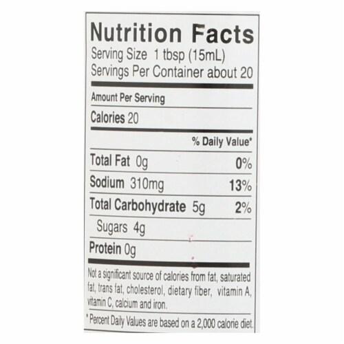 Kikkoman Soy Sauce - Less Sodium - Case of 6 - 10 Fl oz. Perspective: back