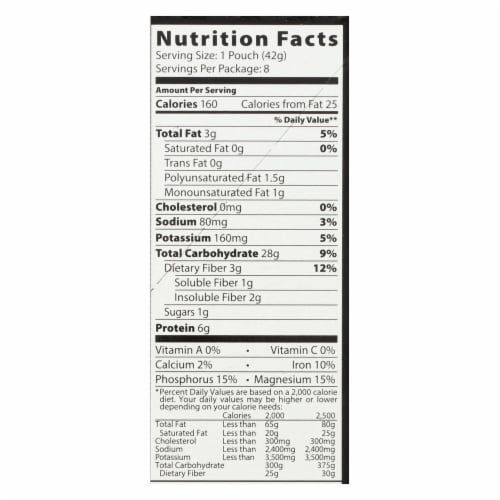Better Oats Organic Instant Multigrain Hot Cereal - Bare - Case of 6 - 11.8 oz. Perspective: back
