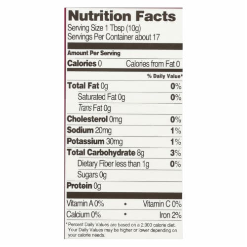 Let's Do Organic - Organic Arrowroot Starch - Case of 6 - 6 oz. Perspective: back