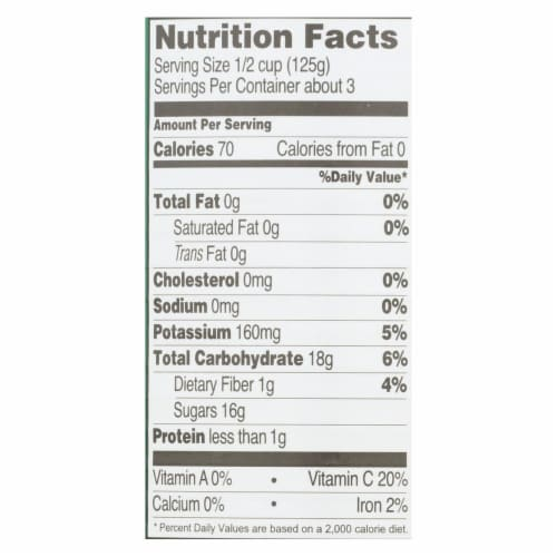 Native Forest Organic Pineapple - Crushed - Case of 6 - 14 oz. Perspective: back