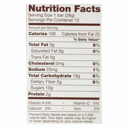 Nature's Bakery Stone Ground Whole Wheat - Double Chocolate Brownie - Case of 6 - 12 oz. Perspective: back