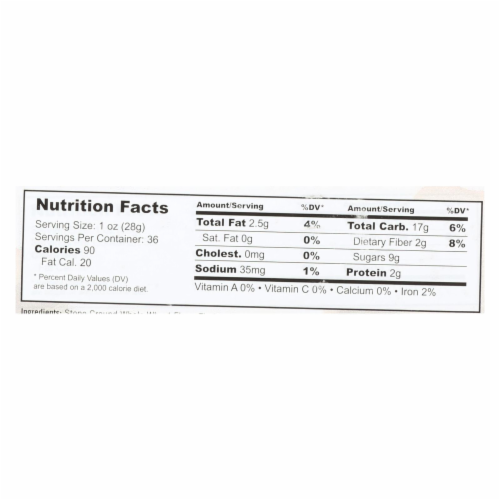 Nature's Bakery Stone Ground Whole Wheat Blueberry Fig Bars  - Case of 6 - 18/2 OZ Perspective: back