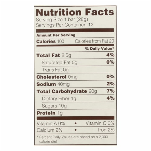 Nature's Bakery Gluten Free Fig Bar - Raspberry - Case of 6 - 2 oz. Perspective: back
