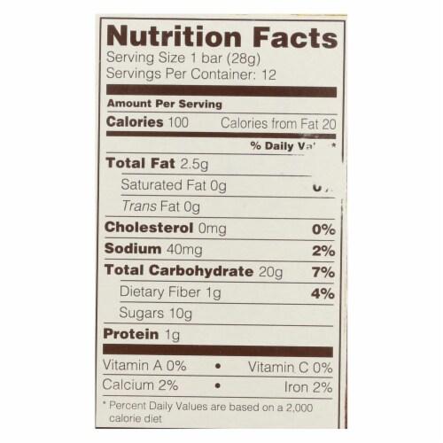 Nature's Bakery Gluten Free Fig Bar - Original - Case of 6 - 2 oz. Perspective: back