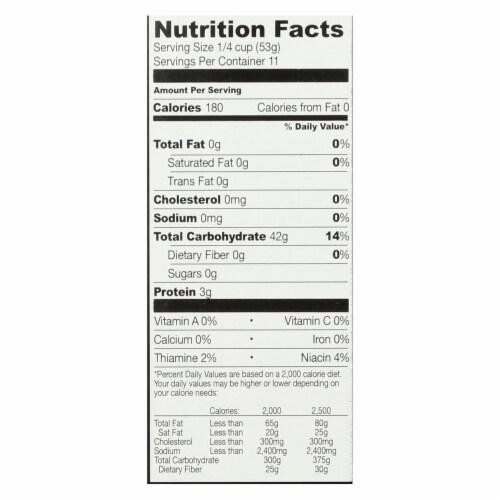 Sushi Chef Premium Sushi Rice - Case of 6 - 20 oz. Perspective: back